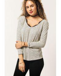 Azalea - L/s Stripe Shirt - Lyst