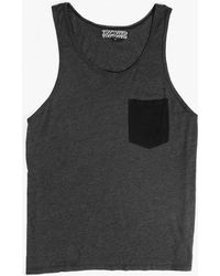 Groceries Apparel - Contrast Pocket Tank - Lyst