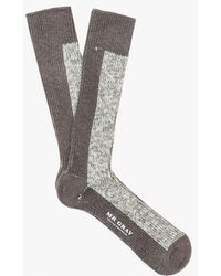 Mr Gray - Melange Solid Sock - Lyst
