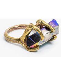 Unearthen - Dyrae Ring W Titanium Quartz - Lyst