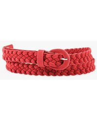 Azalea - Braided Skinny Belt - Lyst