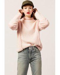 Azalea - Pia Fur Turtleneck Sweater - Lyst