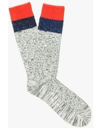 Mr Gray - Melange Cable Knit Sock - Lyst