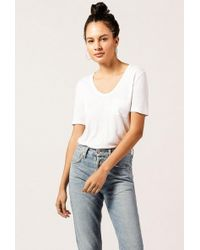 T By Alexander Wang - Classic Cropped Pocket Tee - Lyst
