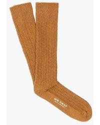 Mr Gray - Wool Aran Knit Sock - Lyst