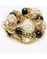 Nicole Romano - Hand Woven Bead Cluster Bracelet - Lyst