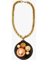 Nicole Romano | Dome Cluster Black Disc Necklace | Lyst