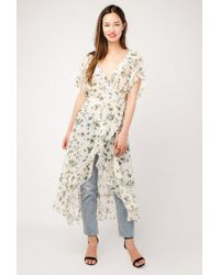 Azalea - Wrap Kimono Duster Dress - Lyst