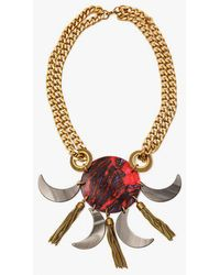 Nicole Romano - Italian Hand Pressed Crescent Dt Necklace - Lyst