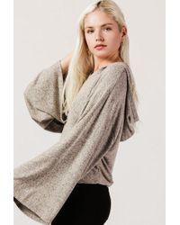 Azalea - Hooded L/s Knit Sweater - Lyst