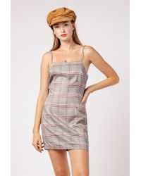 Azalea - Plaid Square Neck Dress - Lyst