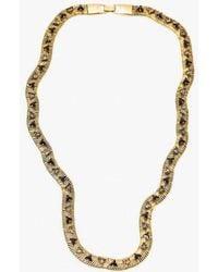 Nicole Romano | Snake Chain W/ Triangle Necklace | Lyst