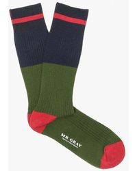 Mr Gray - Tipped Stripe Sock - Lyst