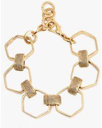 Nicole Romano - Hexagon And Texture Bracelet - Lyst
