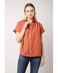 Azalea - Slouchy Stripe Tie Waist Top - Lyst