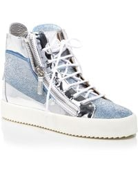 Giuseppe Zanotti Lace Up High Top Sneakers - London - Lyst