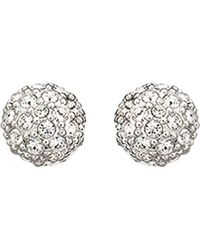 Swarovski Emma Crystal Stud Earrings silver - Lyst