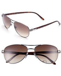 Gucci 58Mm Aviator Sunglasses - Lyst