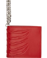 Alexander McQueen Red Rib Cage Chain Wallet - Lyst