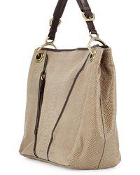 orYANY Bette Anaconda-Embossed Shoulder Bag brown - Lyst