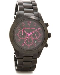 Michael Kors Layton Watch - Blackpink - Lyst
