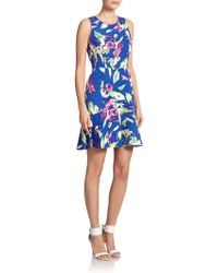 Shoshanna Eden Floral Dress blue - Lyst