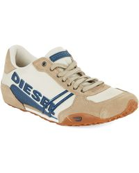 Diesel Harold Solar Lace-Up Leather Sneakers - Lyst