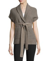 Todd And Duncan - Cashmere Belted Cardigan - Lyst