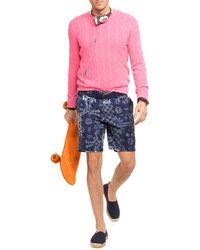 Ralph Lauren Polo Straight-fit Maritime Shibori-print Short - Lyst