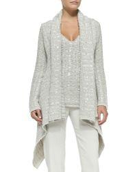 Donna Karan New York | Cashmere Draped Chunky-knit Cardigan | Lyst