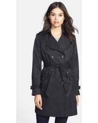 DKNY Meghan Zip-Detail Double-Breasted Trench Coat - Lyst