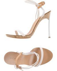 Casadei Sandals white - Lyst