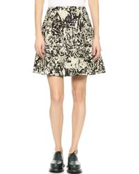 Carven Printed Wool Skirt - Multi - Lyst