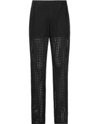 Reiss 1971 Manon Embroidered Trousers black - Lyst