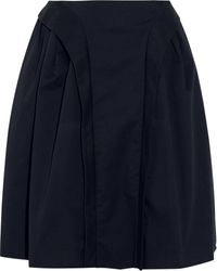 McQ by Alexander McQueen Pleated Stretch-cotton Twill Skirt - Lyst