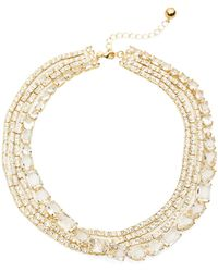 Kate Spade Draped Jewels Multi-Strand Statement Necklace - 16 In. - Lyst