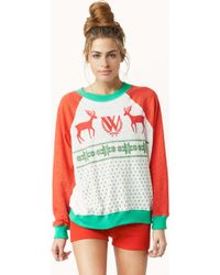 Wildfox Kims Sweater-pastel Snow Babe - Lyst