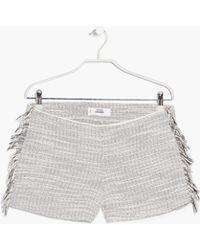 Mango | Fringed Flecked Shorts | Lyst