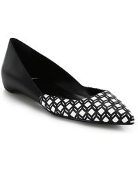 Pierre Hardy Cube-Print Leather Point-Toe Flats - Lyst