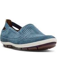 Cobb Hill - Tara Perforated Suede Slip-on Trainers - Lyst