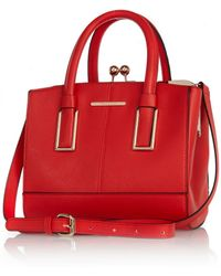 River Island Red Mini Structured Tote Bag - Lyst