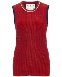 Trademark   Ribbed Knit Shell   Lyst