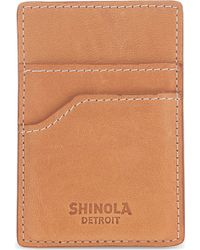 Shinola - Magnetic Clip Leather Card Holder - Lyst