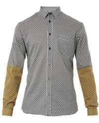 Jonathan Saunders Checkerprint Cotton Shirt - Lyst