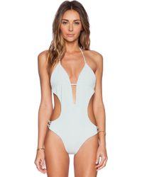 Tori Praver Swimwear Green Sienna Swimsuit - Lyst