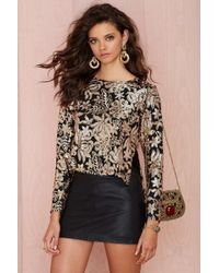 Nasty Gal Lovers and Friends Saturday Night Sequin Top - Lyst