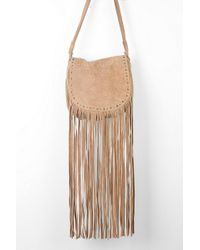 1f64be54f7 Ecote - Ecote Winding Road Suede Fringe Crossbody Bag - Lyst