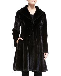 Zac Posen Mink Fur Flounce Coat - Lyst