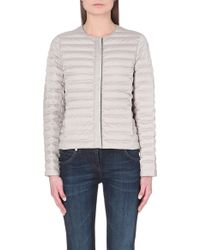 Brunello Cucinelli Quilted Collarless Jacket - For Women - Lyst