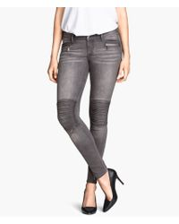 H&M Skinny Low Ankle Jeans - Lyst